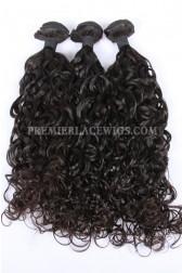 3 Bundles Deal Peruvian Virgin Hair Natural Color Loose Curl Hair Extension