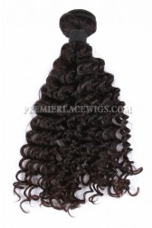 Natural Color Peruvian Virgin Hair Wefts Deep Wave