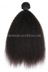 Peruvian Virgin Hair Natural Color Weave Wefts Kinky Straight 1 Bundle