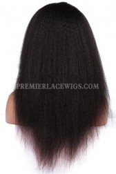 Glueless Full Lace Wig Brazilian Virgin Hair Kinky Straight