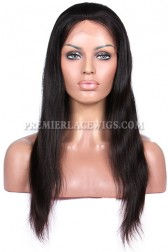 Glueless Full Lace Wig Silky Straight Indian Remy Hair