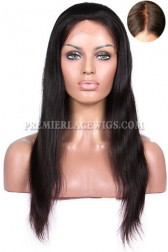 Silky Straight Real Scalp Silk Top Lace Front Wig Indian Remy Hair