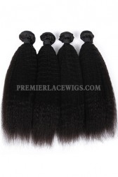 Indian Virgin Hair Weaves Kinky Straight 4 Bundles Deal