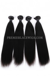 Indian Virgin Hair Weaves Yaki Straight 4 Bundles Deal