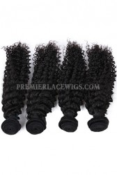 4 Bundles Hair Weft Deep Wavy Indian Virgin Human Hair
