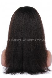Brazilian Virgin Hair Full Lace Wigs Italian Yaki