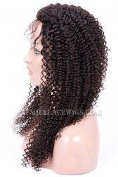 Malaysian Virgin Hair Full Lace Wigs Kinky Curl