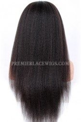 Kinky Straight Chinese Virgin Hair Full Lace Wigs