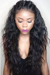 Loose Curly Real Scalp Silk Top Lace Front Wig,Indian Remy Hair