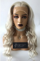 Gorgeous Ash Blonde Wavy Hair Full Lace Wig