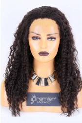 Clearance Sale Lace Front Wig Deep wave,Indian Remy Human Hair Natural Color 20inches 130% Medium Size