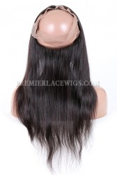 Peruvian Virgin Hair 360°Circular Lace Frontal Natural Straight