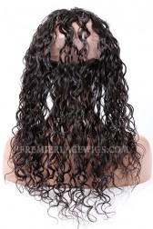 Peruvian Virgin Hair 360°Circular Lace Frontal Loose Curl