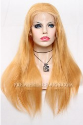 #27 Blonde Lace Front Wigs Natural Straight Chinese Virgin Hair(Not In Stock,Need 30 Working Days To Process)
