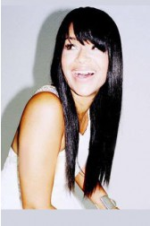 LisaRaye Long Style Straight Black Hair With Bangs Celebrity Lace Wigs