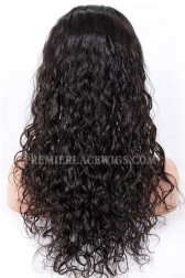 Loose Curl Indian Remy Hair Glueless Lace Front Wigs
