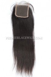 Peruvian Virgin Hair Lace Closure 4X4inches Yaki Straight