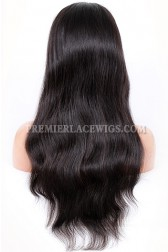 Indian Remy Hair Natural Straight Full Lace Wigs With Baby Hair Free Part