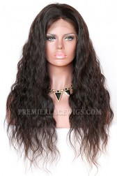 Custom Made Full Lace Wigs 100% Hand-Tied, Indian Remy Human Hair Natural Wave [Production Time 60 working days]