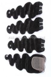 Brazilian Virgin Hair Weave 4ozs thick Hair Body Wave A Silk Base Closure with 3 Bundles Deal