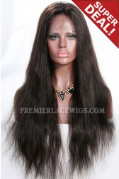Full Lace Wig Indian Remy Hair Natural Straight 2# 24 inches,Medium Size,130% Normal Density,Light Brown Lace