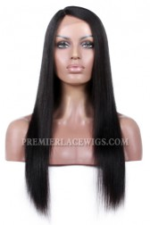 Affordable Real Scalp Silk Base Side Part Wig Yaki Straight Indian Remy Hair