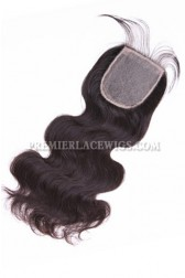 Peruvian Virgin Hair Silk Base Closure 4x4inches Body Wave