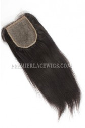 Indian Virgin Hair Silk Base Closure 4x4inches Yaki Straight