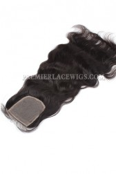 Peruvian Virgin Hair Silk Base Closure Natural Wave 4x4inches