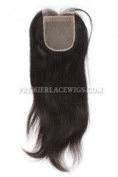 Peruvian Virgin Hair Silk Base Closure Silky Straight 4x4inches