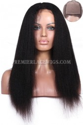 Silk Top Full Lace Wigs Kinky Straight Indian Remy Hair