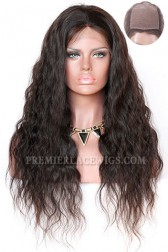 Indian Remy Hair Natural Wave Silk Top Glueless Lace Front Wigs