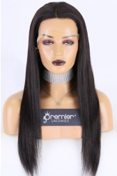 "Super Thin Transparent HD Lace, 13""x4"" HD Lace Frontal Wig, Silky Straight, Pre-plucked Hairline, Removable Elastic Band"