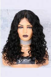 150% Density Affordable Lace Wig Big Wave Indian Remy Hair,Average Cap Size