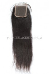 Peruvian Virgin Hair Lace Closure Silky Straight 4x4inches