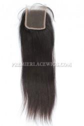 Peruvian Virgin Hair Lace Closure Silky Straight 4x4inches