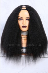 Textured U-Part Wigs Kinky Straight (For blow out natural hair)