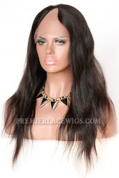 Natural Straight Brazilian Virgin Hair U Part Wigs