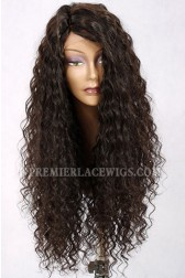 Isabella-24 Inches Long Style Curly Hair Wide Side Part Affordable Silk Base Wig {Processing Wait Time 15 Days }