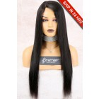 Yaki Straight Affordable Side Part Lace Wig,Indian Remy Hair,Average Cap Size