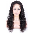 15mm Curl Indian Remy Hair Glueless Lace Front Wigs