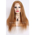 Blending Color Brown Blonde 27/30# Full Lace Wigs Chinese Virgin Hair Natural Straight ﹛Not In Stock,Need 30 Working Days To Process﹜