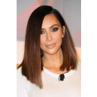 Kim K Ombre Asymmetrical Bob 360 Lace Wig. [Pre-Bleached Knots,Pre-Plucked Hairline,Removable Elastic Band]