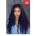 Teaira Style Gorgeous Long Wet Wavy Indian Remy Hair Anatomic 360° Lace Wigs,150% Thick Density ,Pre-Plucked Hairline
