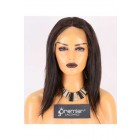 Clearance Lace Front Wig,Indian Remy Hair,Natural Color,14 inches,Straight,130% Density,Average Size, Medium Brown Lace