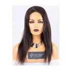 Clearance Full Lace Wig Natural Straight,Indian Remy Hair,Natural Color,18 inches,120% Normal Density,Medium Cap Size,Light Brown Lace