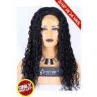 Super Deal 20 inches Lace Front Wig Big Curl Indian Remy Hair,1#, Average Size,150% Thick Density,Medium Brown Lace