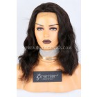 Clearance Silk Top Full Lace Wig,Loose Wavy,Brazilian Virgin Hair,Natural Color,14 inches,120% Density,Medium Cap Size