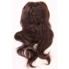 Clearance Hair Topper,Natural Wave Brazilian Virgin Hair, 2# 14 inches,130% Normal Density,7''×8'' Size