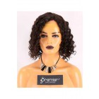 Clearance 4.5'' Lace Front Wig,Curly Bob,Indian Remy Hair,Natural Color,12 nches,150% Density,Average Size,Medium Lace